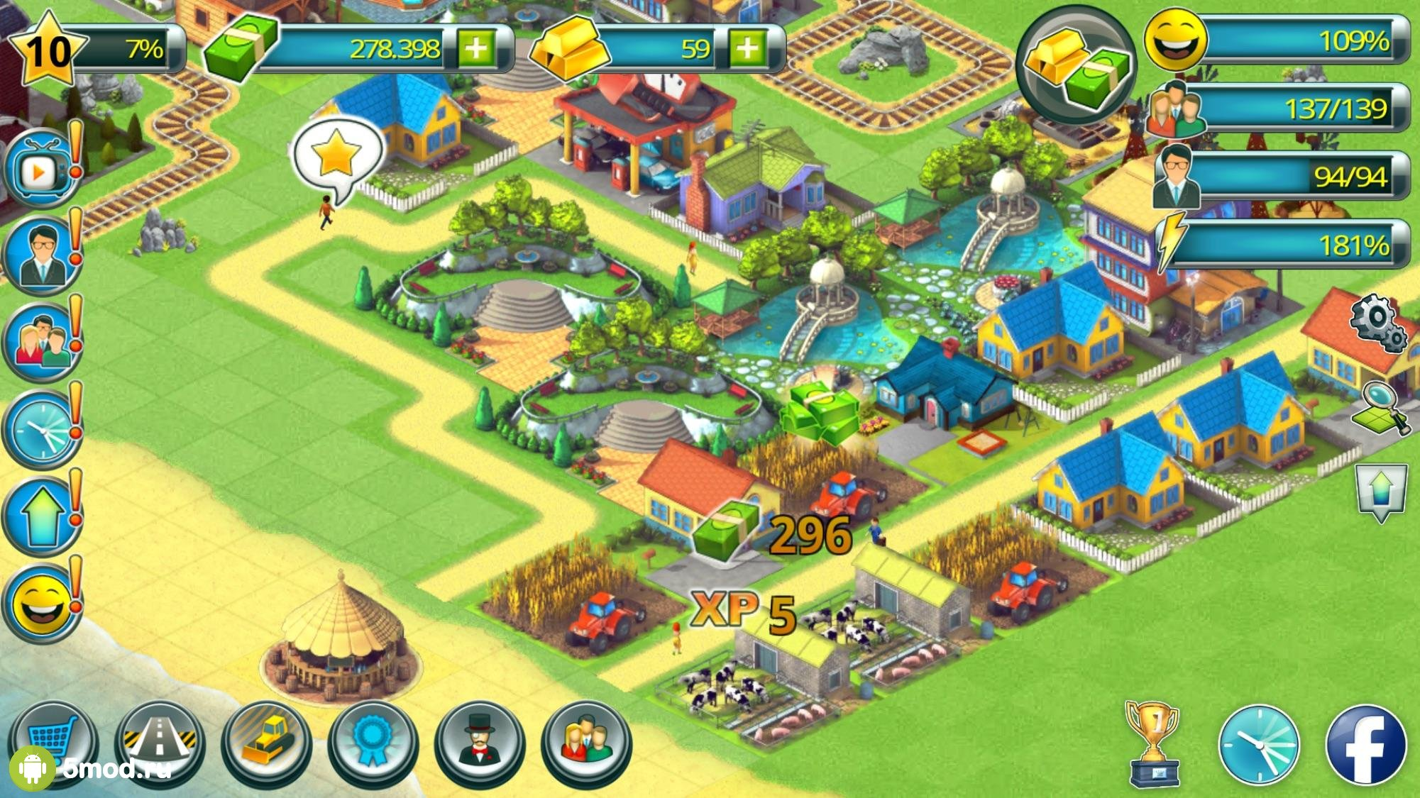 Town Building Games: Tropic City Construction Game
