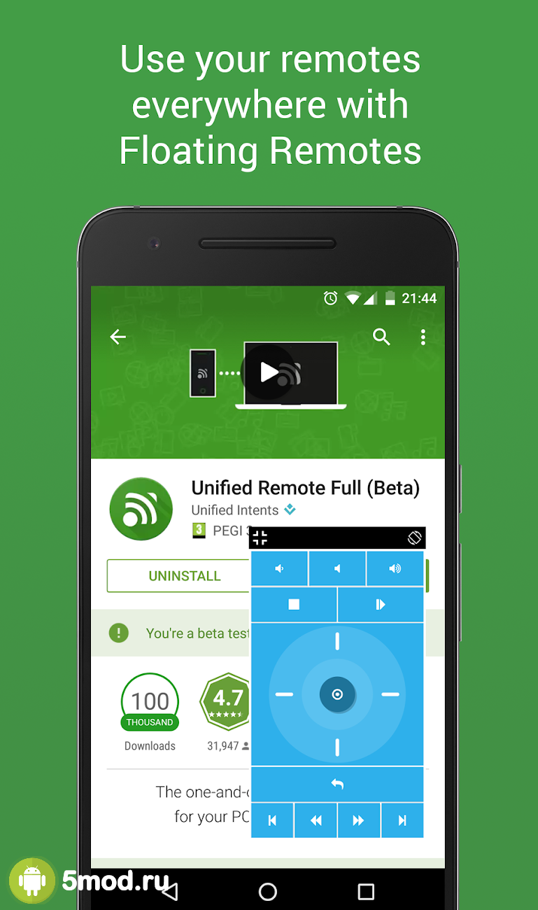 Unified remote full