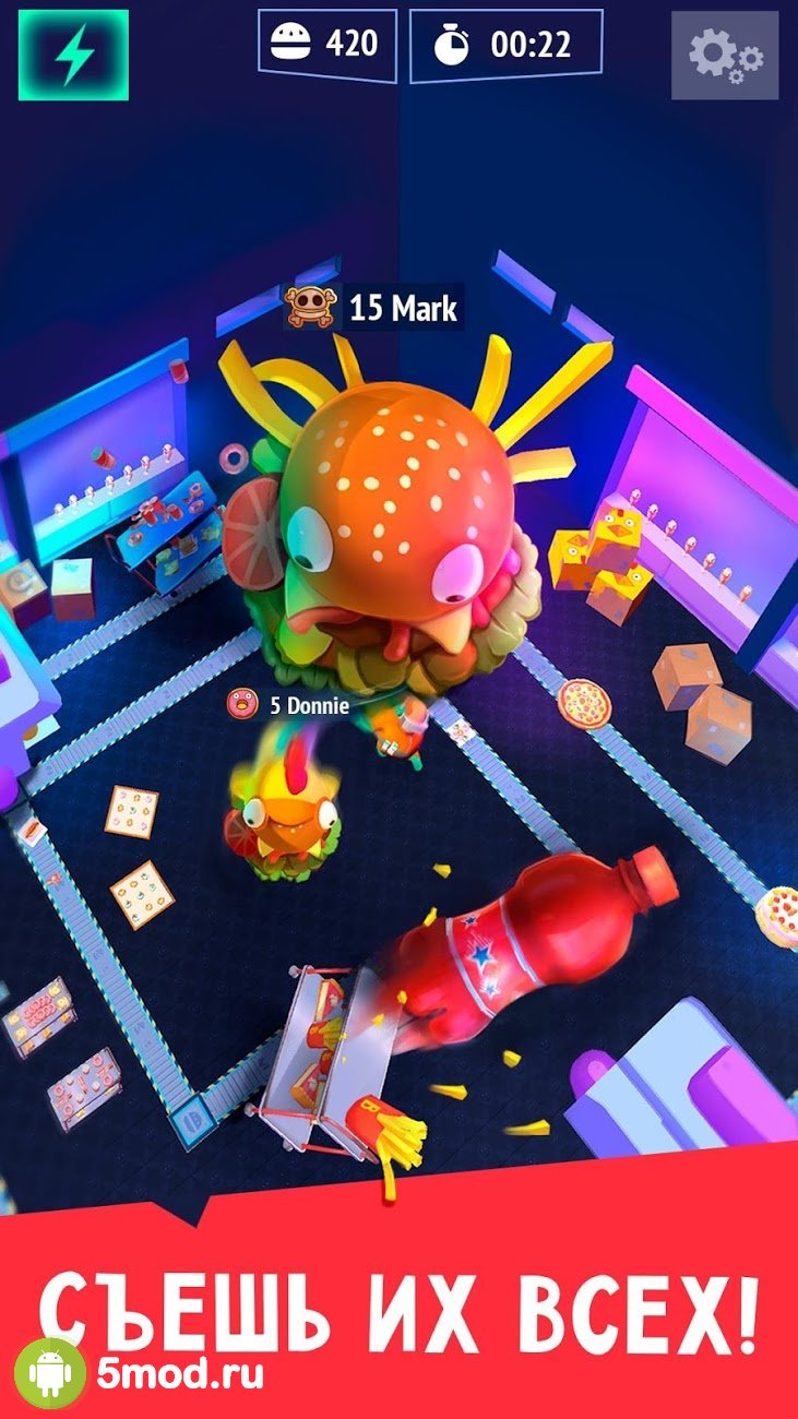 Burger.io: Swallow & amp; Devour Burgers in IO Game