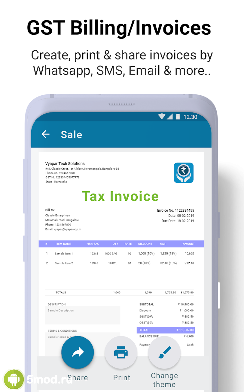 Free GST Invoices, Billing, Inventory, Accounting.