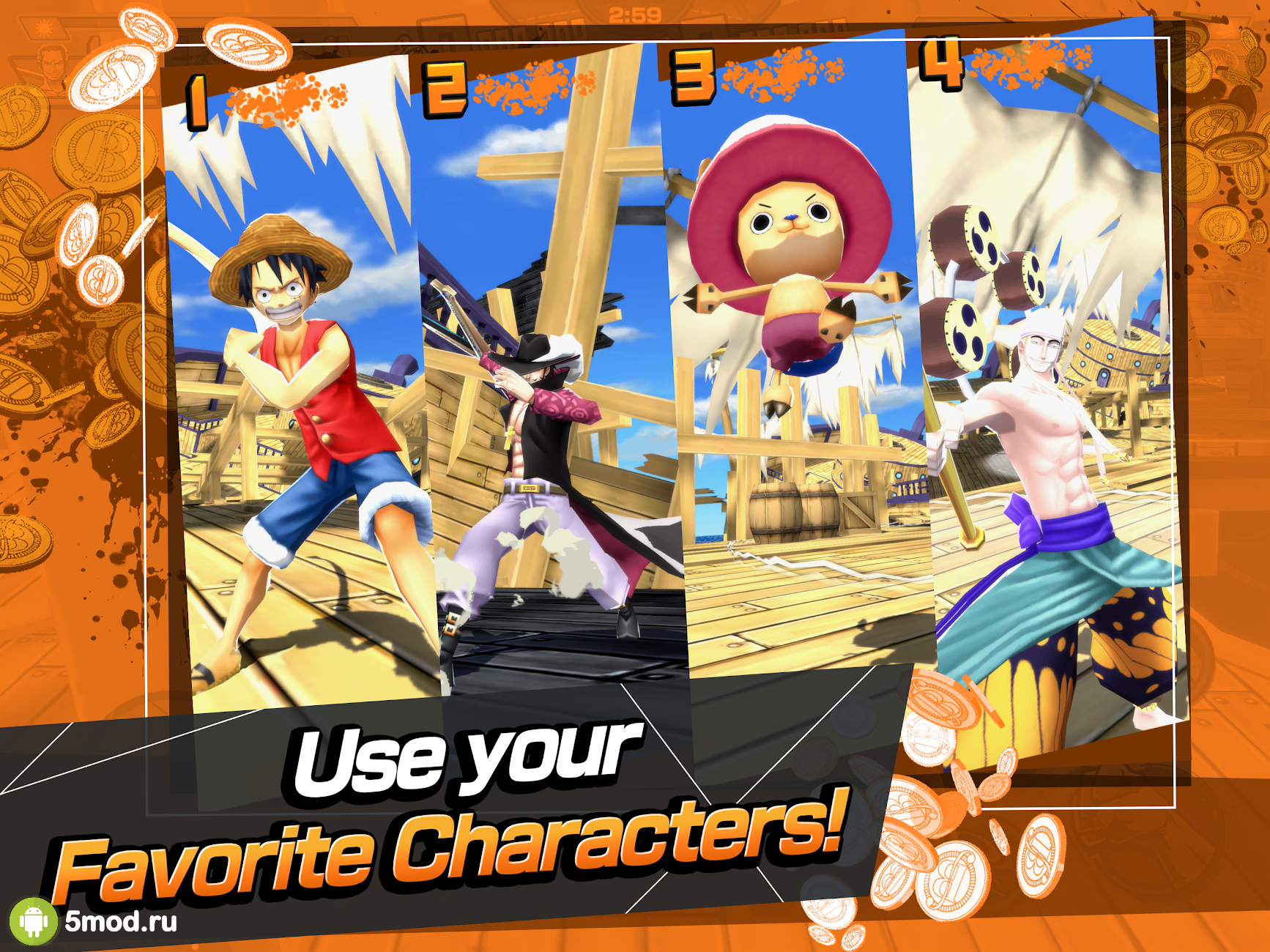 ONE PIECE Thousand Storm Mod APK 2020 per Android - nuova