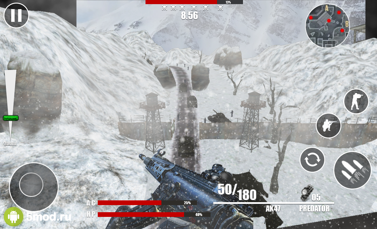 Winter Soldier: Army shooting game