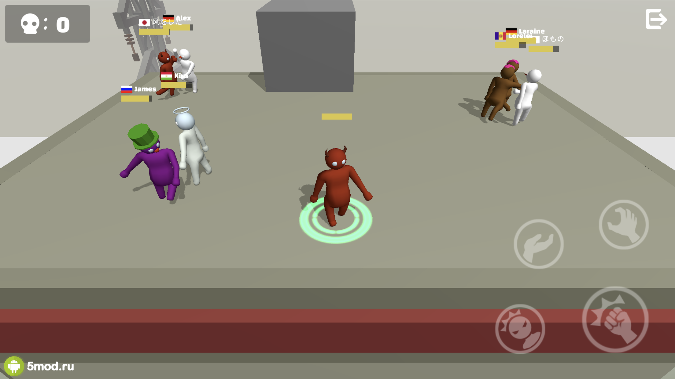 Noodleman Gang Fight: Fun .io Games of Beasts Party