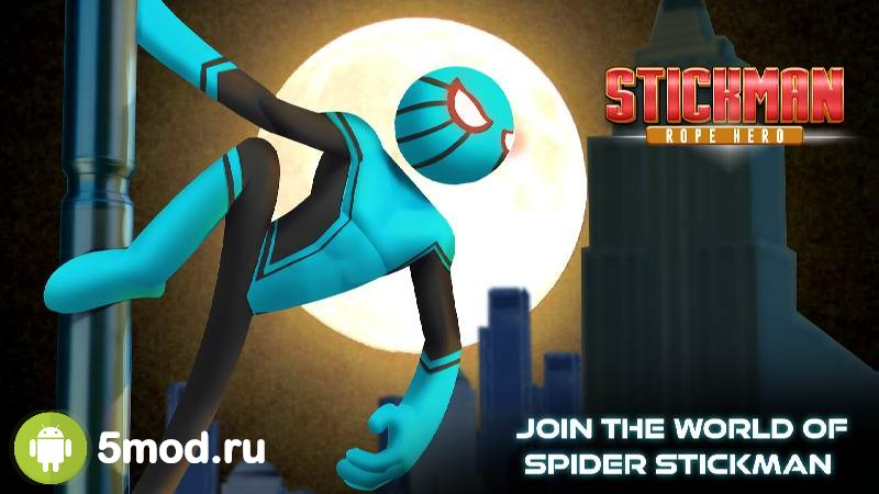 Amazing Stickman Spider Rope: Gangster Vice City