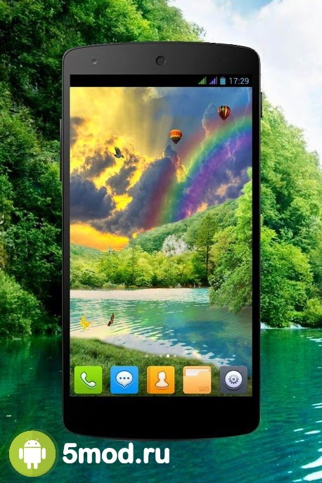 Forest Waterfall PRO Live Wallpaper